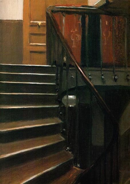 Stairway at 48 rue de Lille (1906) - Edward Hopper