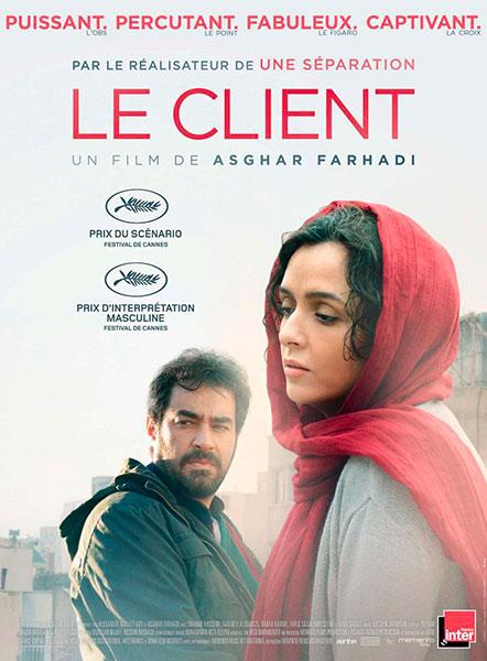 Affiche de Le Client, sortie le 9 novembre 2016.