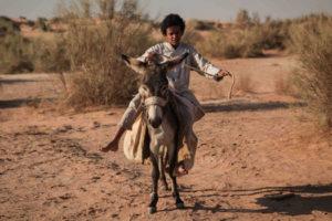 theeb naji abu nowar enfant sur un ane désert