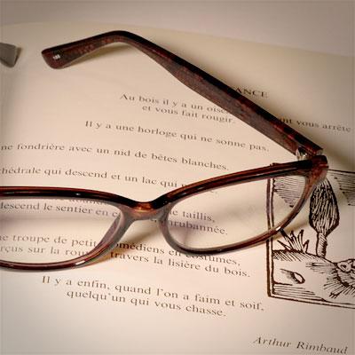 Gustave Kervern sms lunette sur livre illustration gravure