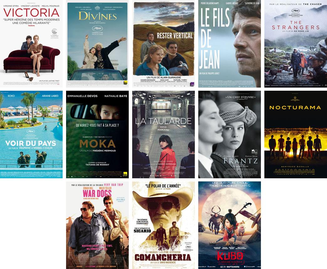 Sorties DVD/Blu-ray du mois de janvier 2017 - Affiches des films