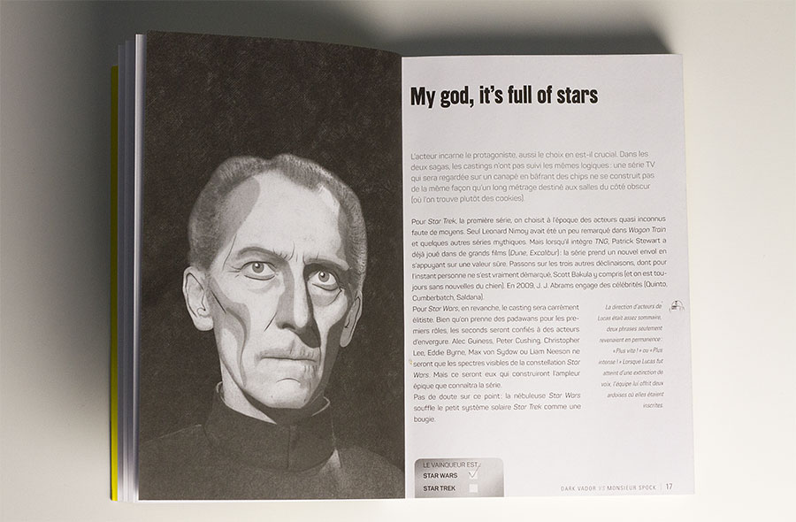 obi-wan kenobi vs Jean-Luc Picard - Dark Vador VS Monsieur Spock intérieur livre Dunod