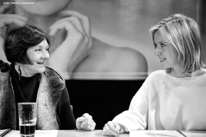 Macha Méril et Léa Drucker lors d'une lecture de scénario au Festival Premiers Plans d'Angers. Photo : Sandrine Jousseaume.