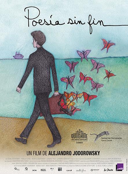 Affiche du film Poesia sin fin de Alejandro Jodorowky. Film Partenaire de Bande à Part.