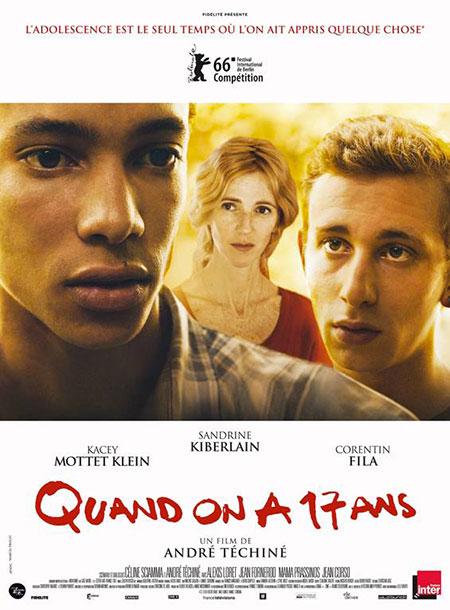 Affiche film Quand on a 17 ans de André Téchiné - partenariat BANDE A PART, magazine de cinéma