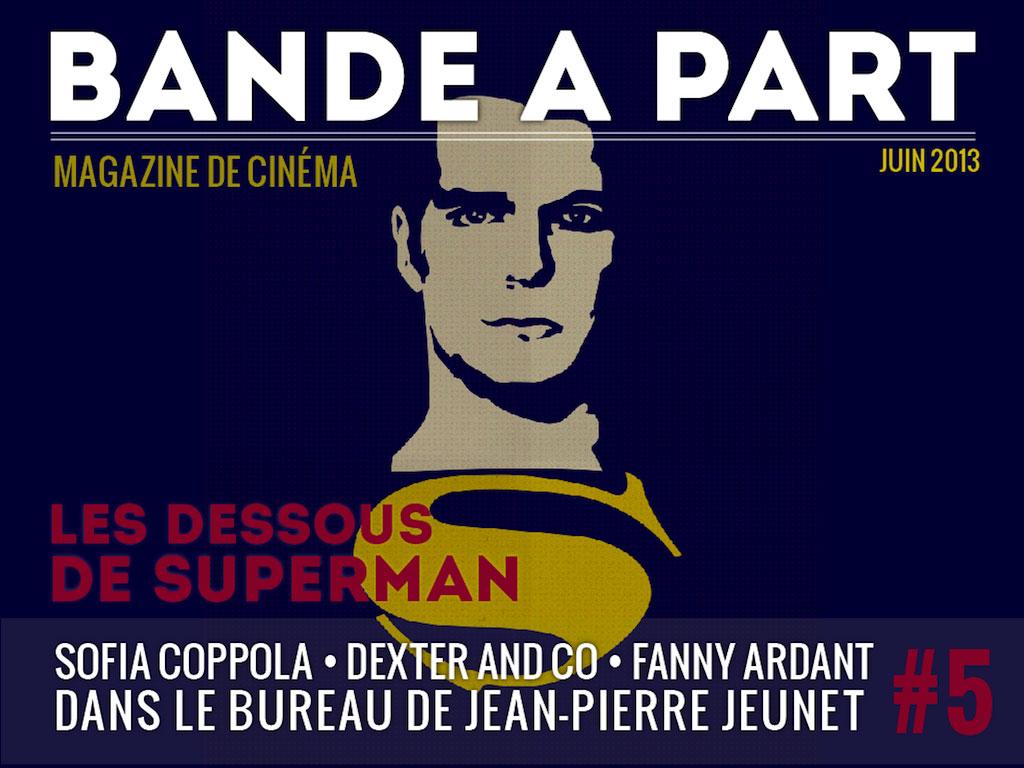 couverture BANDE A PART 05 superman sofia coppola jean pierre jeunet fanny ardant