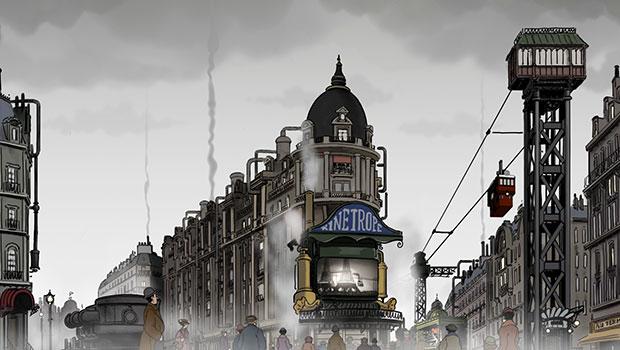 Avril et le monde truqué Jacques Tardi Franck Ekinci Christian Desmares Animation Marion Cotillard Film Scène