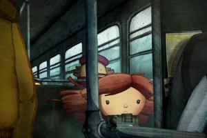 Anina Alfredo Soderguit Animation Dessin animé Bus enfant Scène