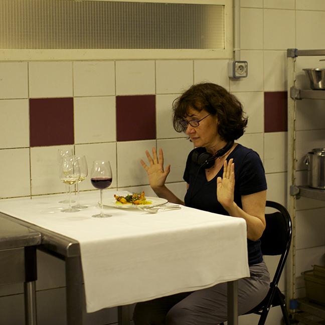 Sur le tournage de On a failli être amies de Anne Le Ny. © Carole Bethuel