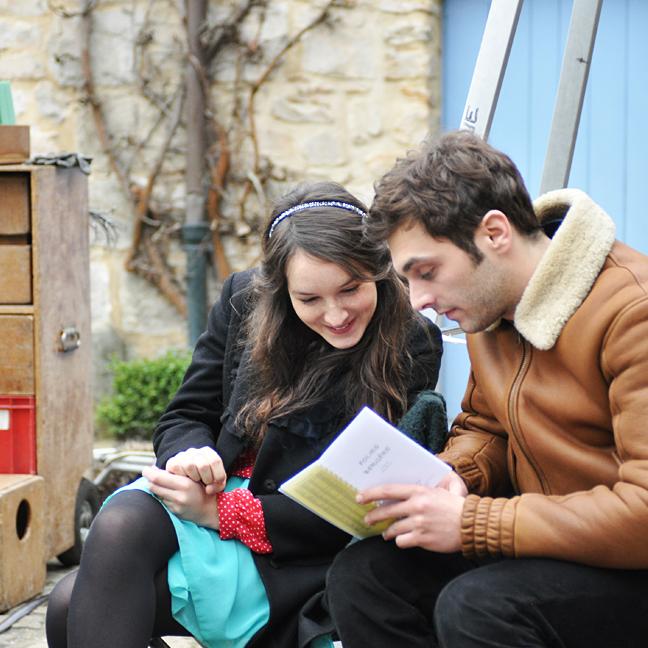 Sur le tournage de La Ritournelle : Pio Marmaï et Anaïs Demoustier © Yann Véronneau