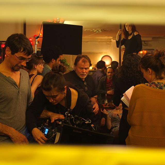 Sur le tournage de Les Gazelles © Mathilde Chapuis.