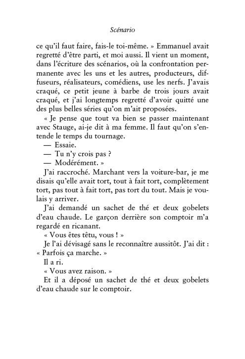 Magazine de cinéma - Dan Frank - extrait scénario